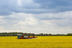Crop spraying Royalty Free Stock Image