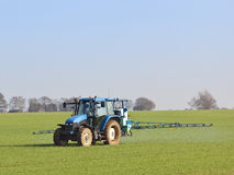 Crop spraying Stock Images