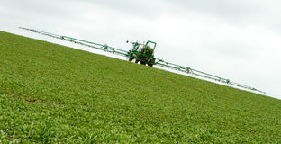 Crop Spraying in field Royalty Free Stock Photos