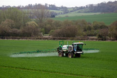 Crop spraying fields Stock Images
