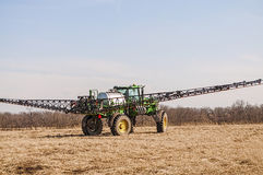 Crop spraying machinery,fertilize Royalty Free Stock Photography