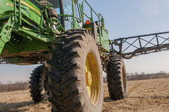 Crop spraying machinery,fertilize Royalty Free Stock Image