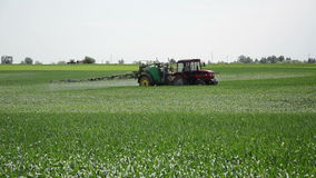 Crop spraying stock footage