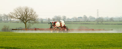 Crop Spraying. Tractor crop spraying in grinpeur 4000 Stock Image