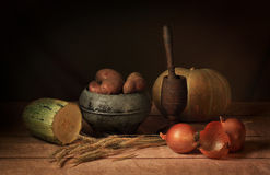Crop of vegetables. The autumn crop of vegetables, is a good requisite for a still-life Royalty Free Stock Photos