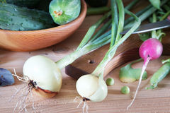 Crop of vegetables on the table Stock Photo