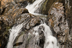 Crop waterfall. Waterfall in tropical forest Royalty Free Stock Photos
