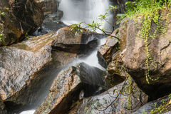 Crop waterfall. Waterfall in tropical forest Stock Images