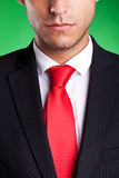 Crop of a young serious business man Royalty Free Stock Images