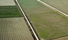 Cropland, aerial view. Cropland in spring, aerial view royalty free stock image