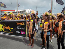 Cropover-Festival-Kostüme in Barbados stockbilder