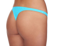 Cropped buttocks of a woman in bikini Royalty Free Stock Images