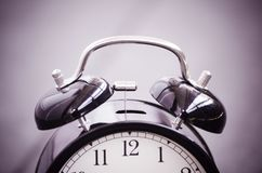 Vintage alarm clock for time management concept Royalty Free Stock Photography