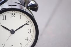 Vintage alarm clock for time management concept Stock Image