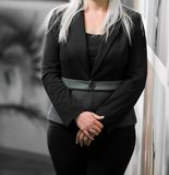 Cropped head Business Woman in corporate attire stock photos