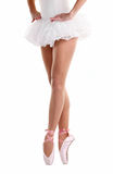 Cropped image of ballerina dancing on pointe Royalty Free Stock Image