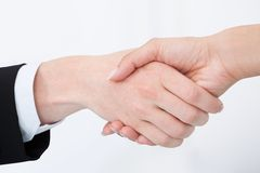 Cropped image of business people shaking hands Royalty Free Stock Photography
