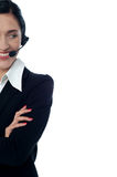 Cropped image of customer support excutive Stock Images