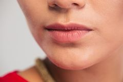 Cropped image of female face Royalty Free Stock Photography