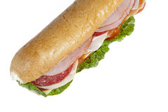 Cropped image of a ham sandwich Stock Photo