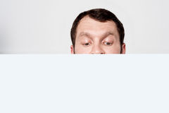 Cropped image of a man head Royalty Free Stock Photo
