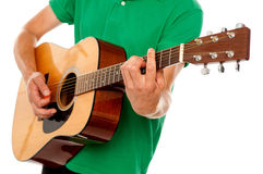 Cropped image of a man playing guitar Royalty Free Stock Photos