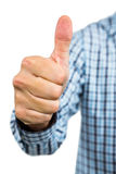 Cropped image of man showing thumbs up sign Royalty Free Stock Photos