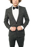 Cropped image of a man in tuxedo Stock Image