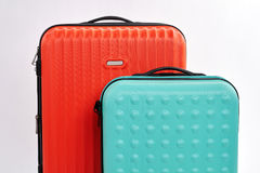 Cropped image of modern suitcases. Royalty Free Stock Images