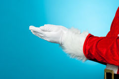 Cropped image of Santa with open palms Stock Photos