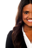 Cropped image of a smiling corporate lady Stock Photo