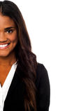 Cropped image of a smiling corporate lady Royalty Free Stock Images