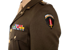 Cropped image of US military captain Stock Photos