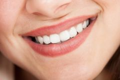 Cropped image of woman smiling Stock Image