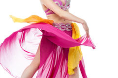 Cropped image of young female belly dancer Royalty Free Stock Photography