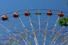 Ferris wheel attractions royalty free stock photography