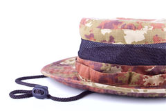 Cropped male's hat image Royalty Free Stock Photos