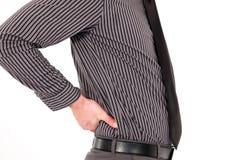 Biznesmen z backache obrazy royalty free