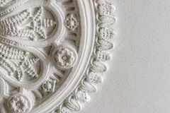 Cropped photograph of a Victorian ceiling rose. Close up photograph of an original Victorian ceiling rose which can be found inside properties in the UK. This stock photography