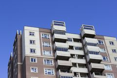 Cropped shot of high rised concrete building on sunny day. In Turkey Stock Photos