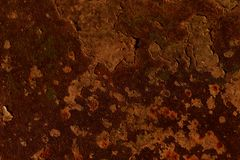 Cropped shot of a metal old surface with rust stains and corrosion royalty free stock images