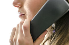 Cropped view of female call center employee Royalty Free Stock Photos