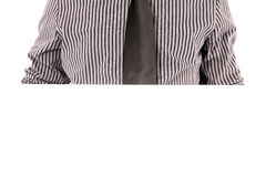 Mans chest in tie and striped shirt Stock Image