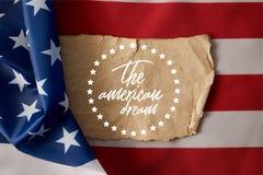 Cropped wizerunek mężczyzny mienia amerykanina flagpole obrazy stock