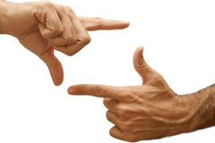 Cropping Fingers stock photography