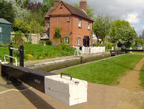 Cropredy Lock. On the South Oxford Canal Stock Images