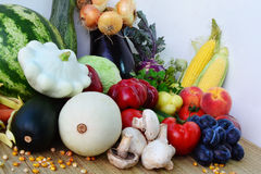 Crops. Of fresh vegetables and fruits Stock Images
