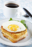 croque madame Obraz Stock