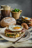 Croque madame Stock Images