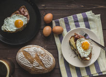 Croque madame Royalty Free Stock Photos